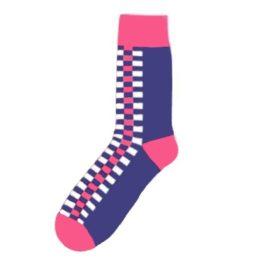 rozsaszin kockas zokni