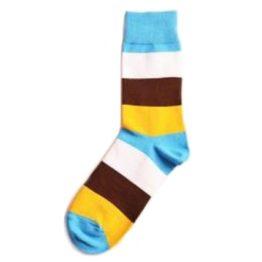 barna csíkos zokni