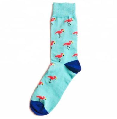 flamingós zokni kék