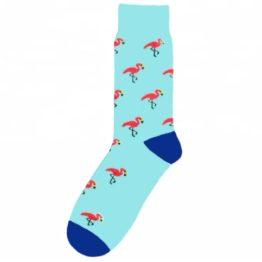 kék flamingós zokni
