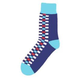 kék kockás zokni