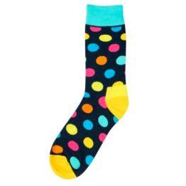 nagy pöttyös zokni (fekete)