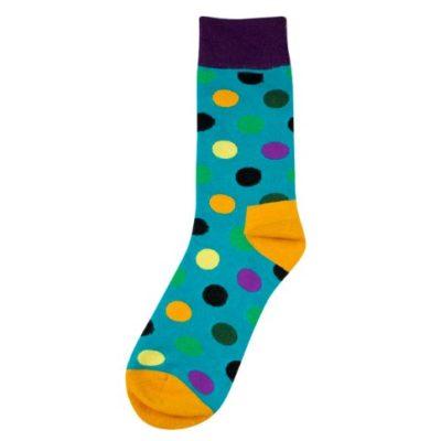 nagy pöttyös zokni (kék)
