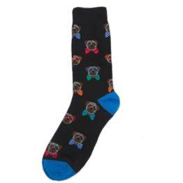 nyakkendős kutyás zokni