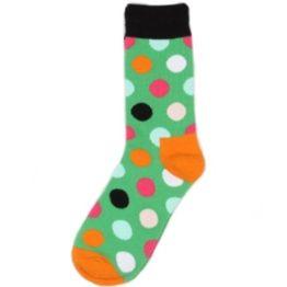 pöttyös zokni (zöld)