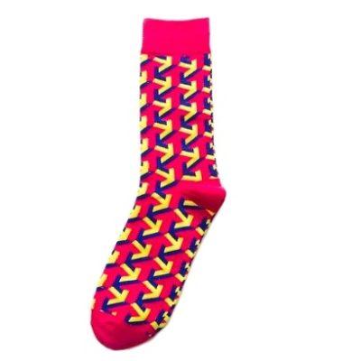 feltűnő rózsaszín zokni