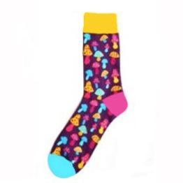 szines gombas zokni