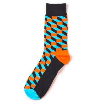 térhatású zokni (narancs-kék)