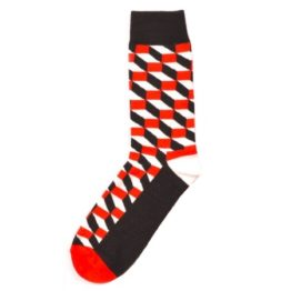 térhatású zokni (piros)
