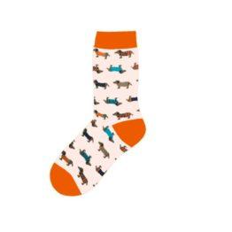 tacsis női zokni narancssárga2