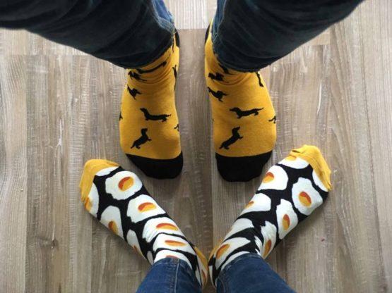 tükörtojásos zokni