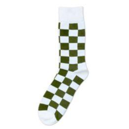 zöld kockás zokni