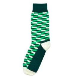 zöld térhatású zokni