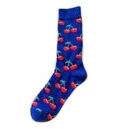 kék cseresznyés zokni