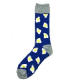 kék tükörtojásos zokni