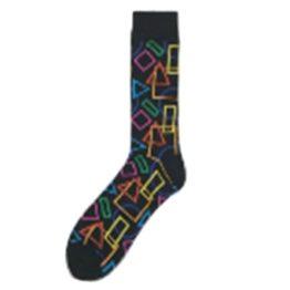 színes geometriás zokni