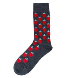 szürke epres zokni