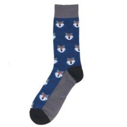 szürke farkasos zokni