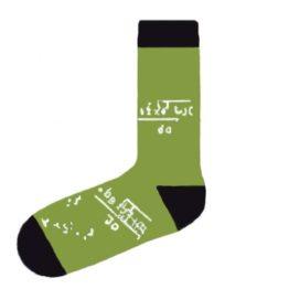 zöld matematikás zokni