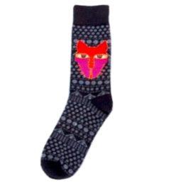 absztrakt macskás zokni