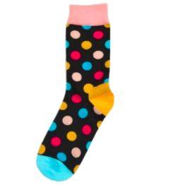 fekete nagy pöttyös zokni