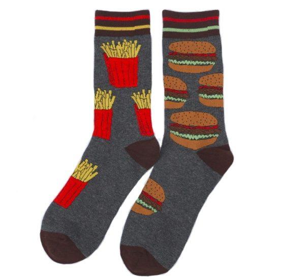 hamburger és sültkrumpli zokni