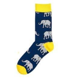 kék elefántos zokni