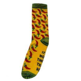 sárga chilis zokni
