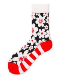virágos zokni