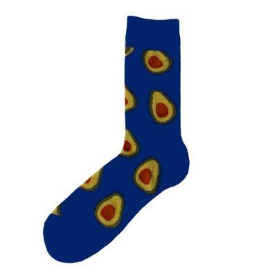 kék avokádós zokni