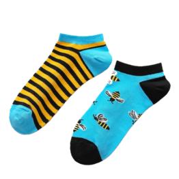méhecskés felemás nyári zokni
