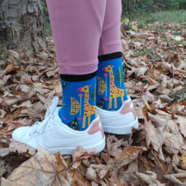 zsiráfos zokni