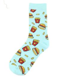 kis hamburger és sultkrumplis zokni
